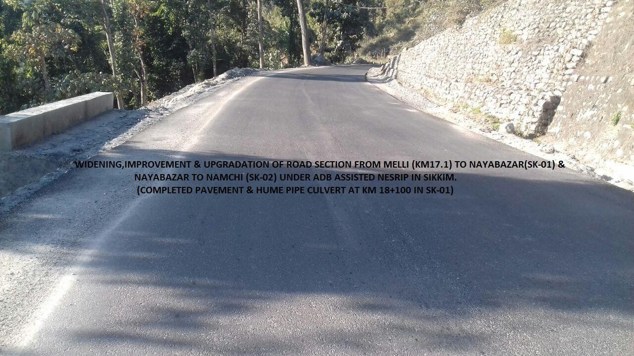 Completed Pavement and Hume Pipe Culvert at SK-01 in Sikkim